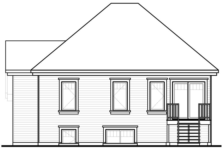 Home Plan Rear Elevation of this 4-Bedroom,1981 Sq Ft Plan -126-1047