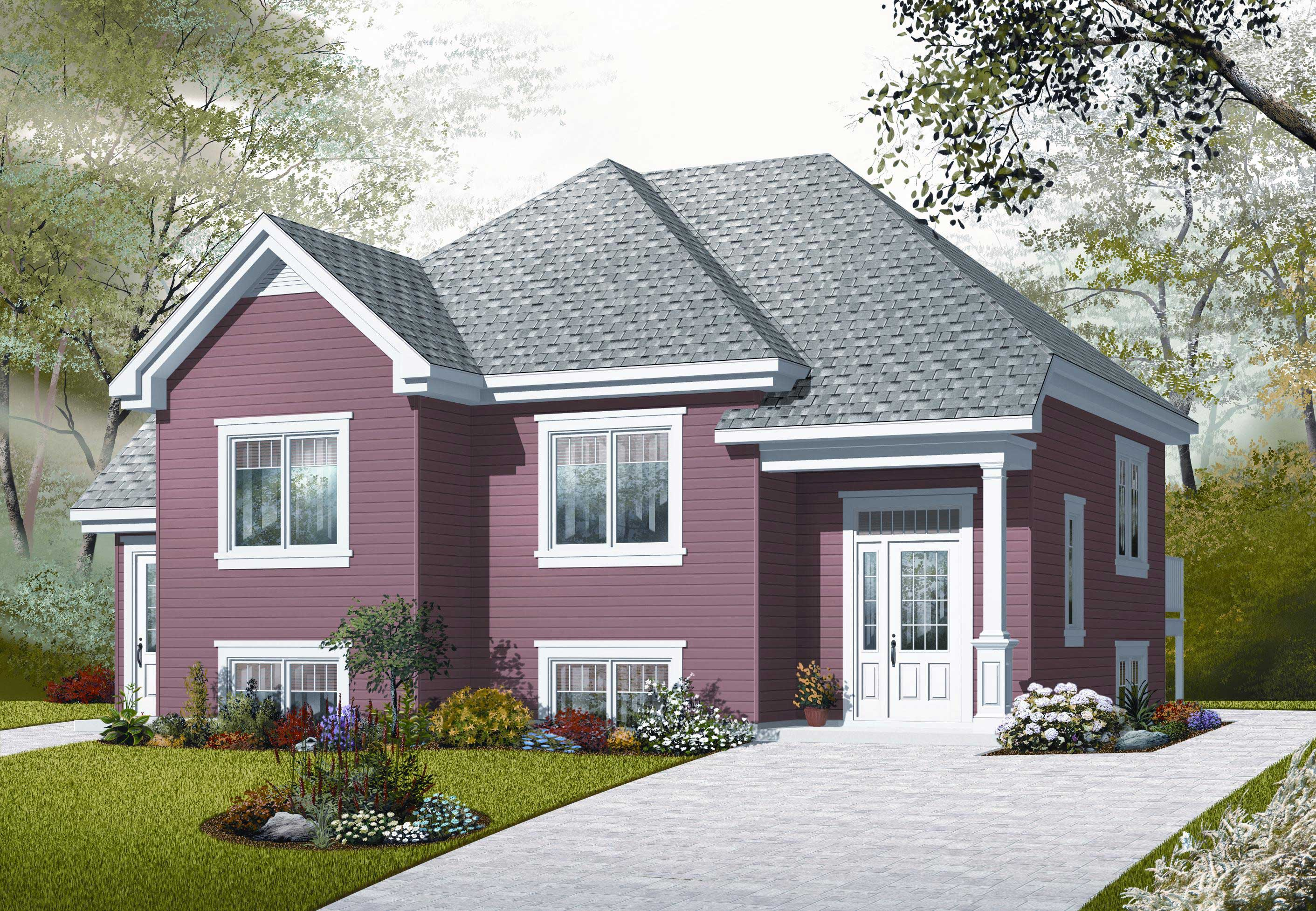 In law suite house plan 4 bedrms 2 baths 2056 sq ft for House plans with in law suite