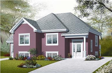 4-Bedroom, 2056 Sq Ft In-Law Suite House Plan - 126-1048 - Front Exterior