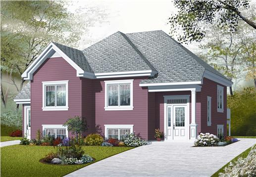 This is a colorized computer rendering of these In-Law Suite House Plans.
