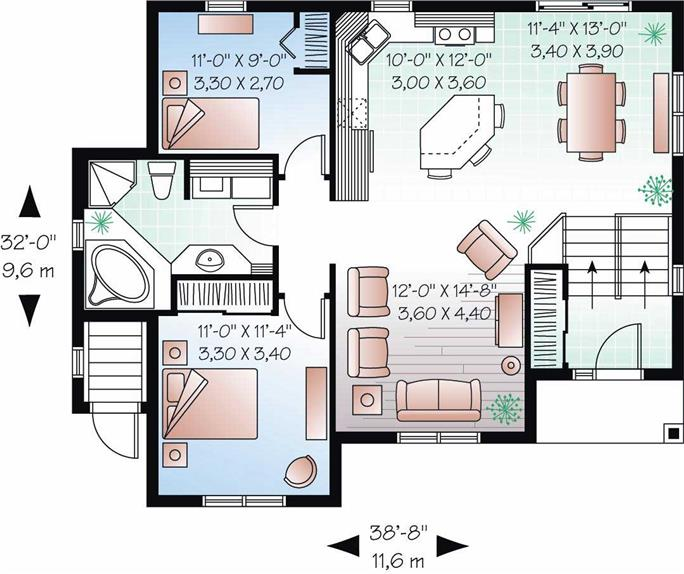 In-Law Suite House Plans - Home Design 3323B