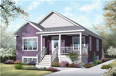 2-Bedroom, 1017 Sq Ft Bungalow House Plan - 126-1049 - Front Exterior