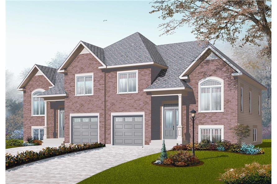Multi unit house plans home design 3055 for Multi unit home plans