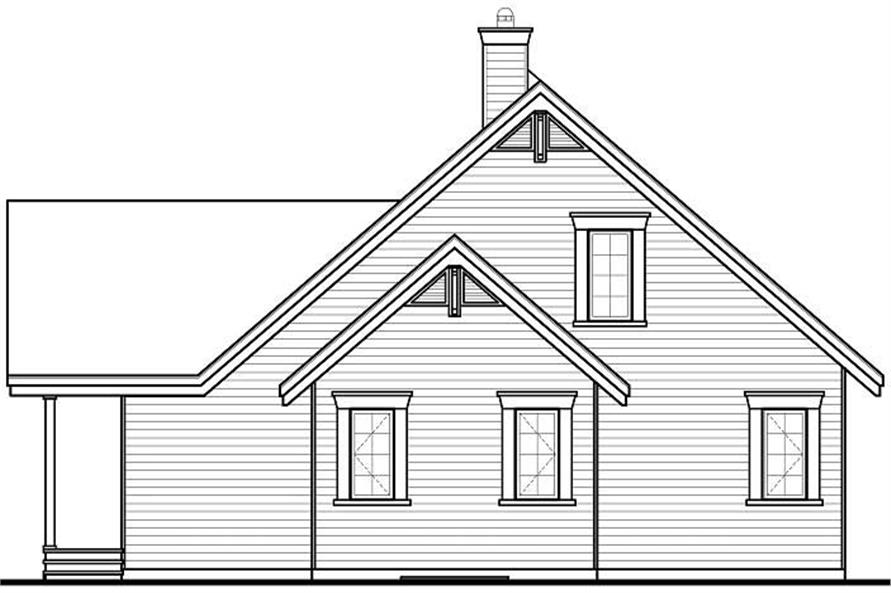 Home Plan Front Elevation of this 5-Bedroom,2920 Sq Ft Plan -126-1053