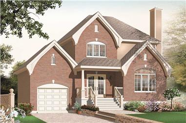 3-Bedroom, 1675 Sq Ft Small House Plans - 126-1054 - Front Exterior