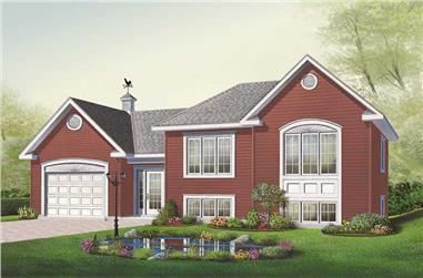 2-Bedroom, 1059 Sq Ft Multi-Level Home Plan - 126-1055 - Main Exterior