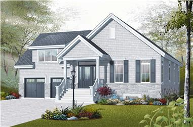 3-Bedroom, 1438 Sq Ft Country Home Plan - 126-1056 - Main Exterior