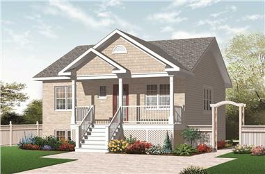 2-Bedroom, 870 Sq Ft Country Home Plan - 126-1058 - Main Exterior
