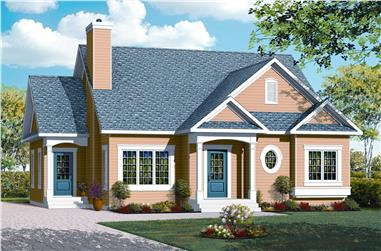 2-Bedroom, 1359 Sq Ft Country Home Plan - 126-1059 - Main Exterior