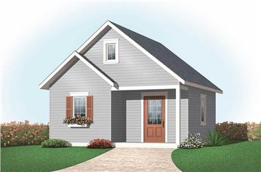 0-Bedroom, 360 Sq Ft Specialty Home Plan - 126-1073 - Main Exterior