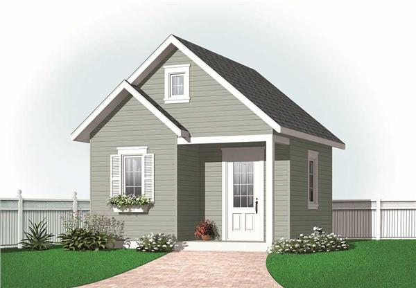 This is a computer rendering for these Small House Plans.