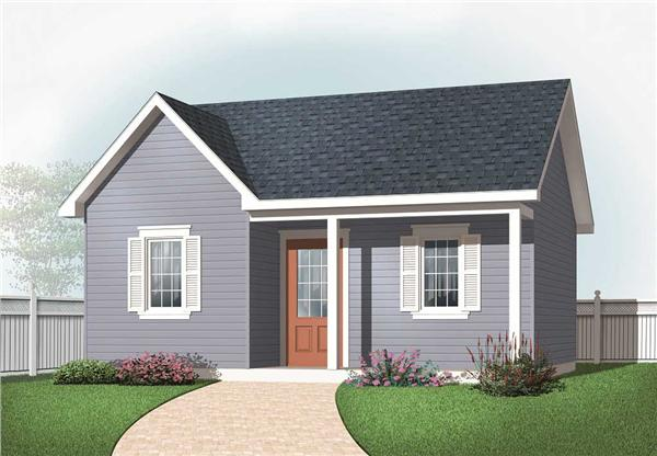 This is a computer rendering of these Small House Plans.