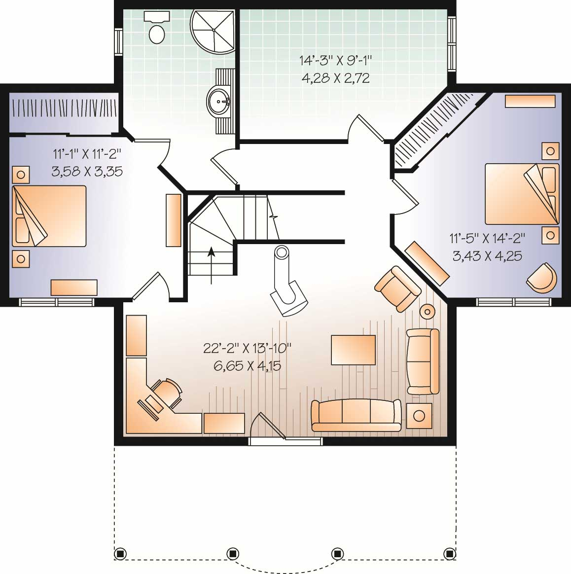 Traditional homeplans home plan 126 1077 for 1077 marinaside crescent floor plan