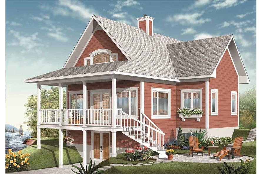 This is a computerized rendering of these Traditional Home Plans.