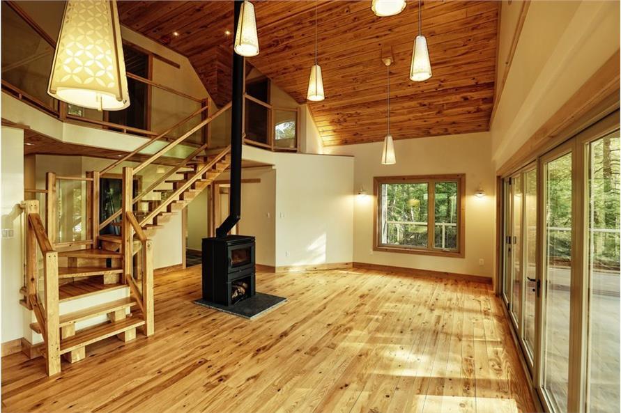 126-1077: Home Interior Photograph-Living Room