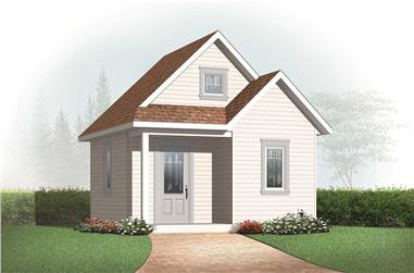 0-Bedroom, 352 Sq Ft Specialty Home Plan - 126-1078 - Main Exterior
