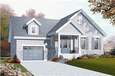 2-Bedroom, 1126 Sq Ft Country Home Plan - 126-1080 - Main Exterior