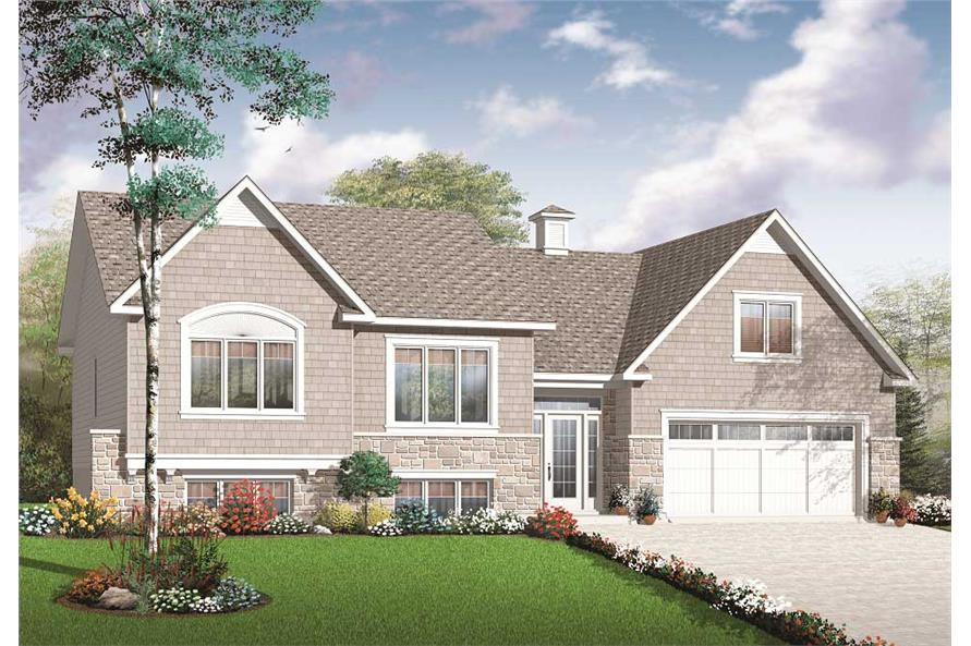 Color rendering House Plan #126-1081