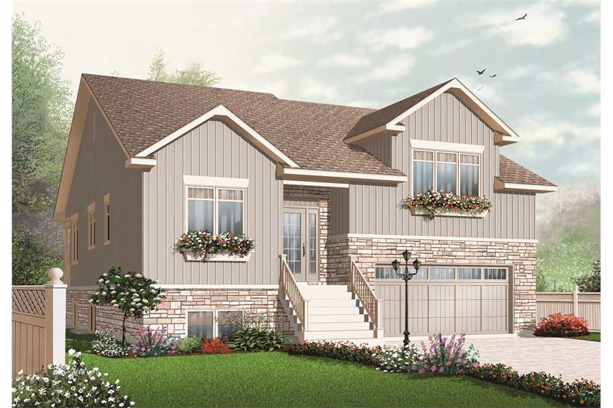 3-Bedroom, 2679 Sq Ft Multi-Level Home Plan - 126-1083 - Main Exterior