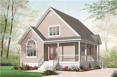 2-Bedroom, 1561 Sq Ft Colonial Home Plan - 126-1084 - Main Exterior
