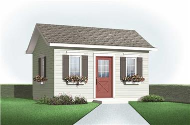 0-Bedroom, 192 Sq Ft Specialty Home Plan - 126-1085 - Main Exterior