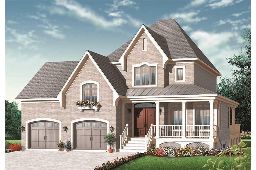 3-Bedroom, 2208 Sq Ft European House Plan - 126-1087 - Front Exterior