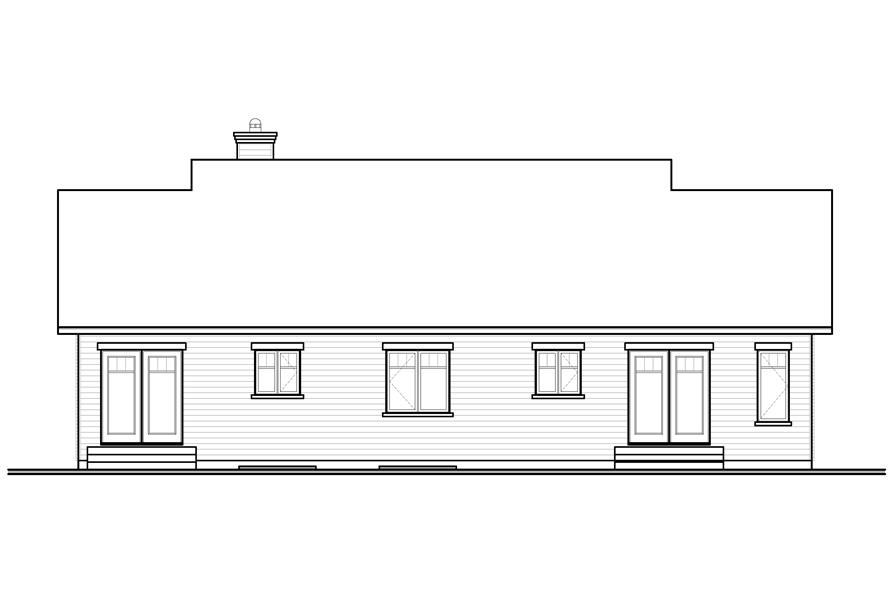 Home Plan Rear Elevation of this 3-Bedroom,2005 Sq Ft Plan -126-1089
