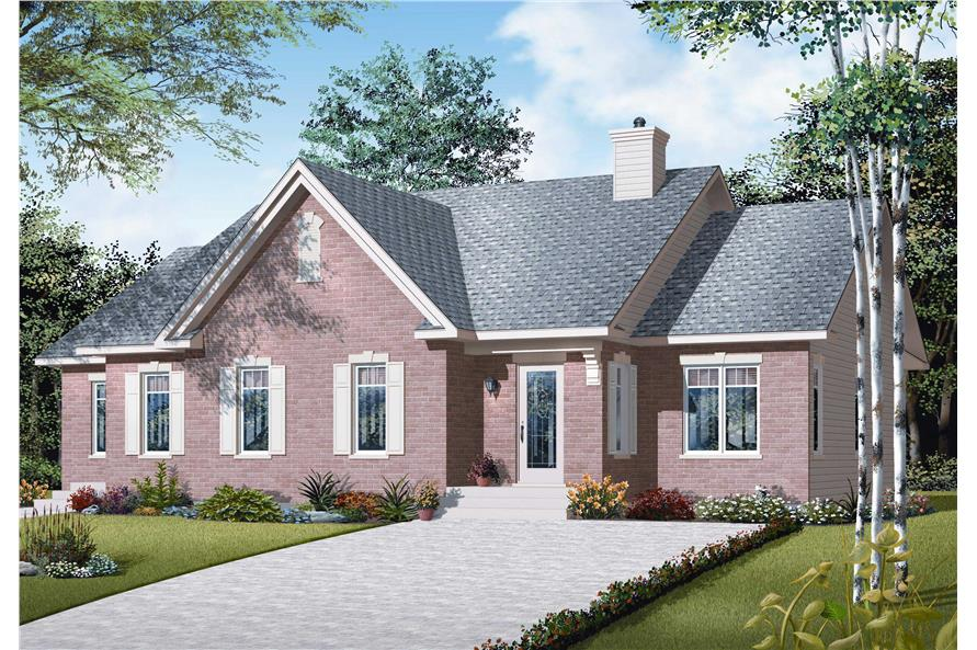 3-Bedroom, 2005 Sq Ft Country House Plan - 126-1089 - Front Exterior