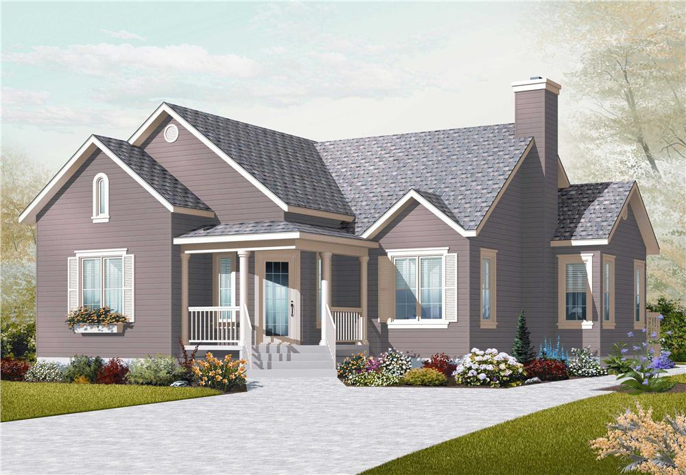 This is a computerized rendering of these Small Country House Plans.