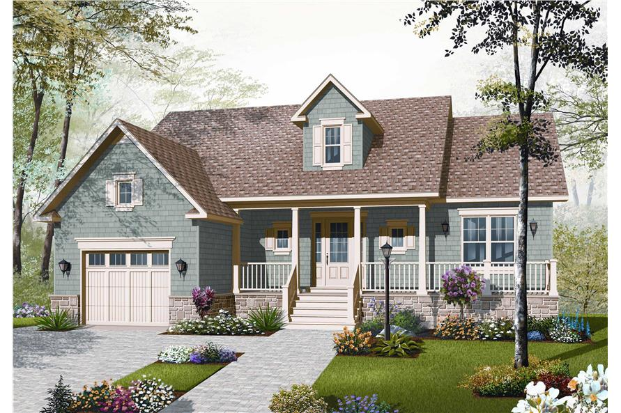 126 1092 this is the front elevation of these country house plans - Country House Plans