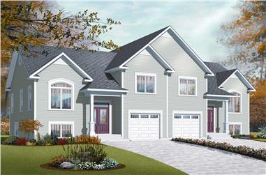 3-Bedroom, 3498 Sq Ft Multi-Unit House Plan - 126-1094 - Front Exterior