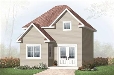 0-Bedroom, 680 Sq Ft Specialty Home Plan - 126-1096 - Main Exterior