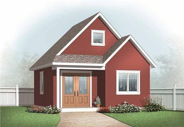 This is a computerized rendering of these Small House Plans.