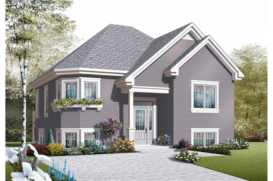 2-Bedroom, 949 Sq Ft European Home Plan - 126-1101 - Main Exterior