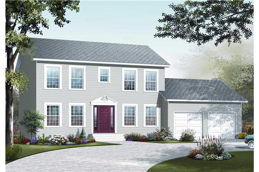 4-Bedroom, 1814 Sq Ft Country House Plan - 126-1105 - Front Exterior
