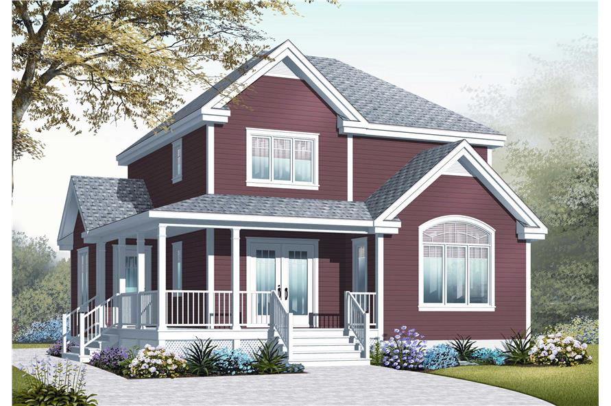 This is a computerized 3D rendering of these Country Home Plans.