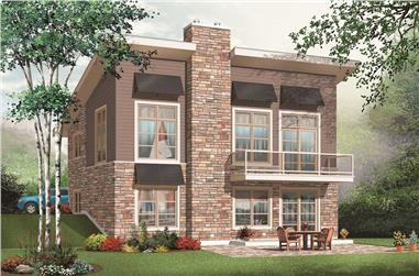 This is the 3D rendering for these Contemporary House Plans.