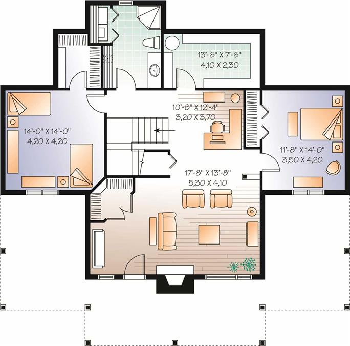 House Plans With Basements ranch house plan with 3 bedrooms and 35 baths plan 1169 Basement Floor Plan Basement