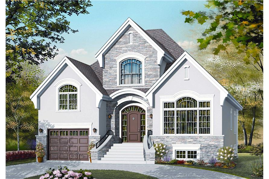 3-Bedroom, 1837 Sq Ft Cape Cod Home Plan - 126-1116 - Main Exterior