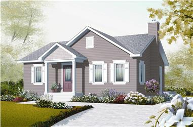 2-Bedroom, 896 Sq Ft Country Home Plan - 126-1120 - Main Exterior