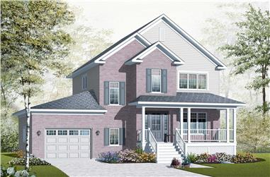3-Bedroom, 1654 Sq Ft Country House Plan - 126-1124 - Front Exterior