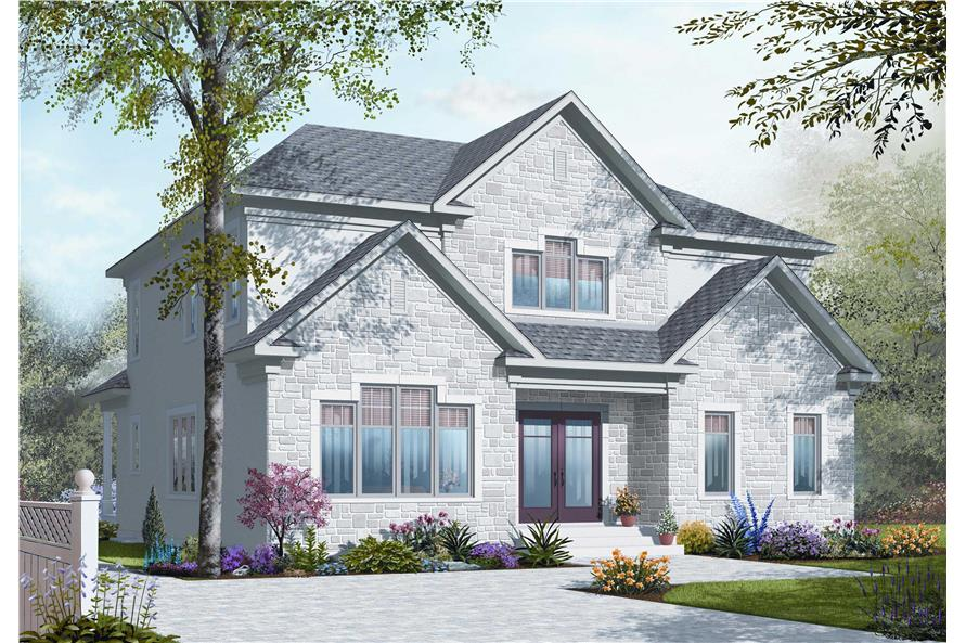 5-Bedroom, 2885 Sq Ft In-Law Suite House Plan - 126-1125 - Front Exterior