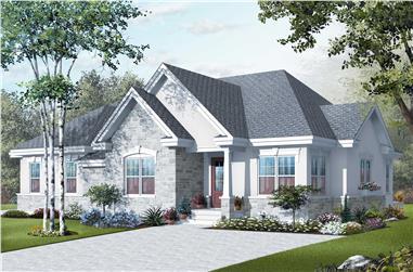 4-Bedroom, 2238 Sq Ft European Home Plan - 126-1127 - Main Exterior