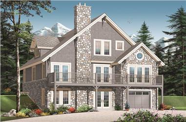 3-Bedroom, 3167 Sq Ft Craftsman Home Plan - 126-1128 - Main Exterior