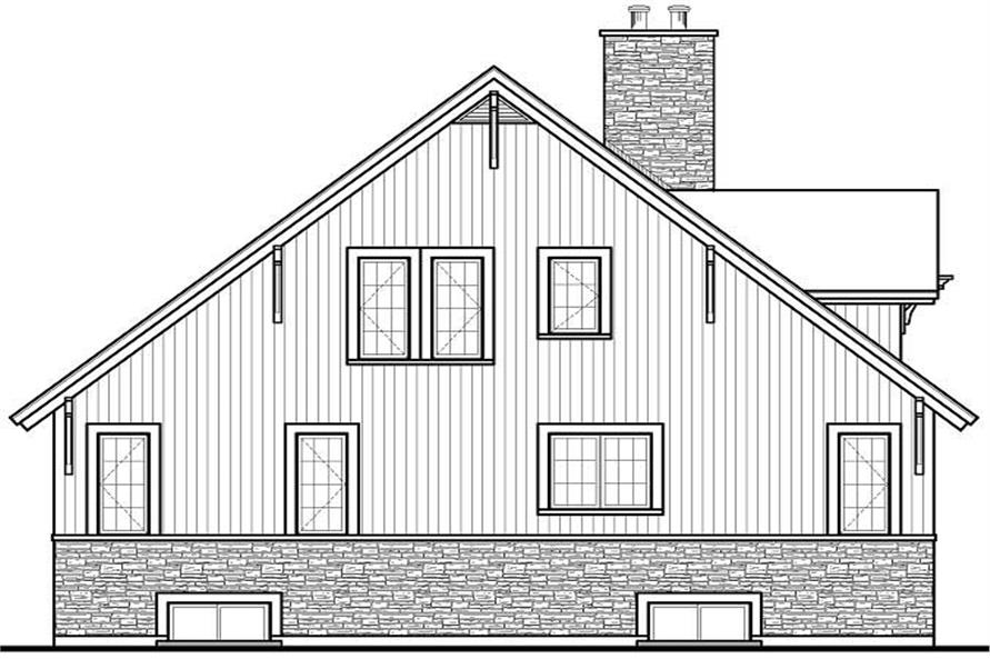 Home Plan Front Elevation of this 3-Bedroom,3167 Sq Ft Plan -126-1128