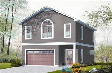 1-Bedroom, 1015 Sq Ft Garage w/Apartments House Plan - 126-1131 - Front Exterior