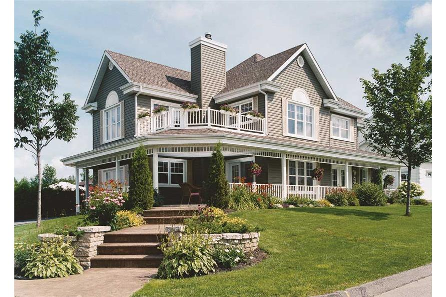 Traditional Country House Plan #126-1132: 4 Bdrm, 2528 Sq ...