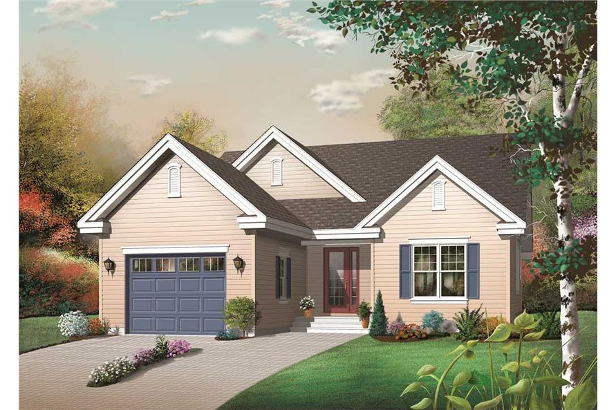3-Bedroom, 1436 Sq Ft Country Home Plan - 126-1133 - Main Exterior