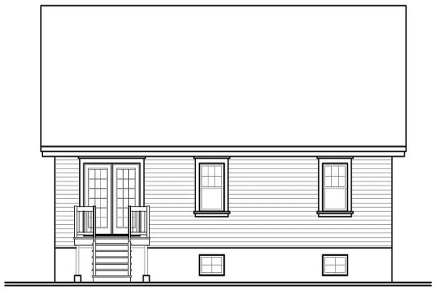 Home Plan Rear Elevation of this 3-Bedroom,1436 Sq Ft Plan -126-1133