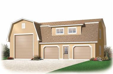 0-Bedroom, 2342 Sq Ft Garage Home Plan - 126-1135 - Main Exterior